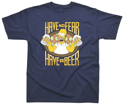 The Simpsons - Have No Fear - Have a Beer T-Shirt