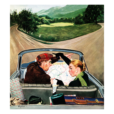 """""""Fork in the Road"""", July 7, 1956 Giclee Print by George Hughes"""