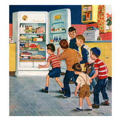 """Refrigerator Raid"", February 19, 1955 Giclee Print by Amos Sewell"