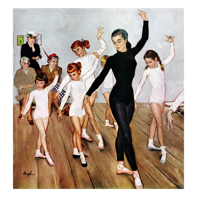 """""""Ballet Class"""", November 3, 1956 Giclee Print by George Hughes"""