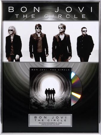 "Bon Jovie - ""The Circle"" framed CD Framed Memorabilia"