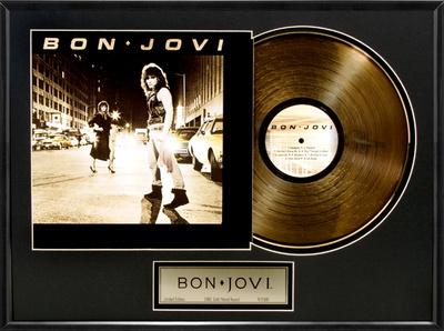Bon Jovi Gold LP Framed Memorabilia