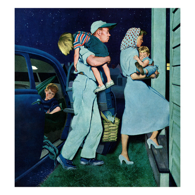 """Home at Last"", September 1, 1951 Giclee Print by George Hughes"