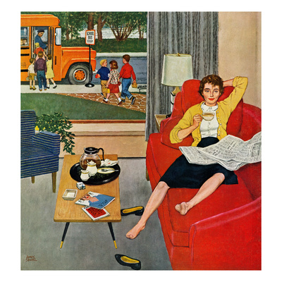 """""""Morning Coffee Break"""", September 12, 1959 Giclee Print by Amos Sewell"""