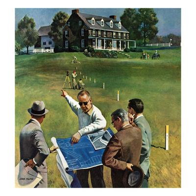 """Imminent Domain"", July 18, 1959 Giclee Print by John Falter"