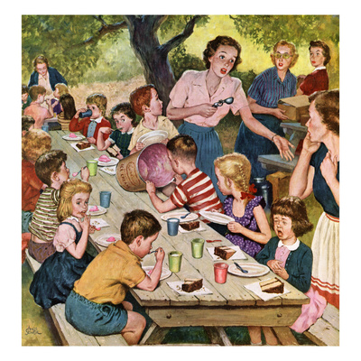 """""""Out of Ice Cream"""", June 27, 1953 Giclee Print by Amos Sewell"""