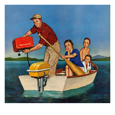 """""""Row, We're Out of Gas"""", June 27, 1959 Giclee Print by Amos Sewell"""