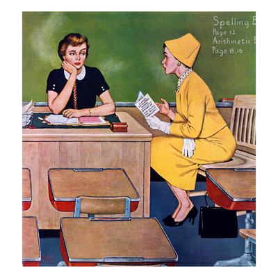 """""""Parent - Teacher Conference"""", December 12, 1959 Giclee Print by Amos Sewell"""
