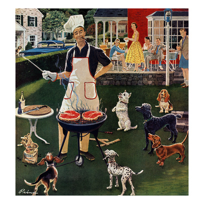 """Hot Dogs"", September 13, 1958 Giclee Print by Ben Kimberly Prins"
