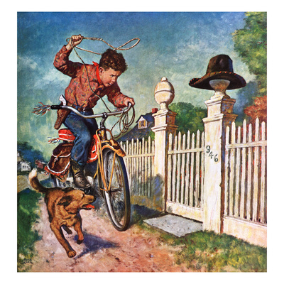 """""""Playing Cowboy"""", June 23, 1951 Giclee Print by Amos Sewell"""