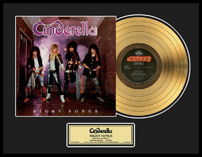 "Cinderella - ""Night Songs"" Gold LP Framed Memorabilia"