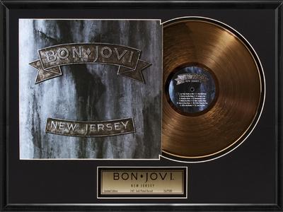 "Bon Jovi - ""New Jersey"" Gold LP Framed Memorabilia"