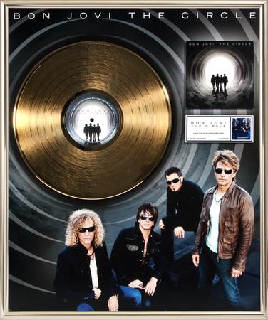 "Bon Jovi - ""The Circle"" Gold LP Framed Memorabilia"