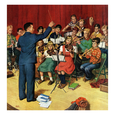 """""""School Orchestra"""", March 22, 1952 Giclee Print by Amos Sewell"""