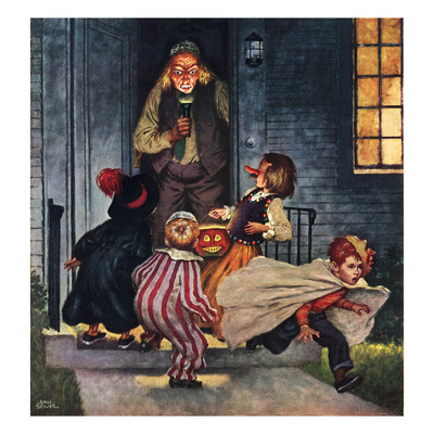"""""""Tricking Trick-Or-Treaters"""", November 3, 1951 Giclee Print by Amos Sewell"""