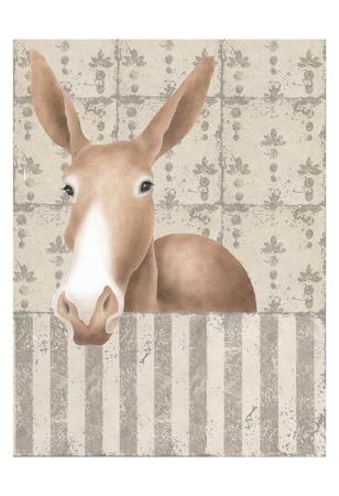 Mule Posing Print by Carol Kemery