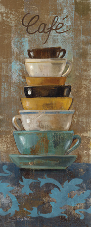 Antique Coffee Cups I Posters by Silvia Vassileva