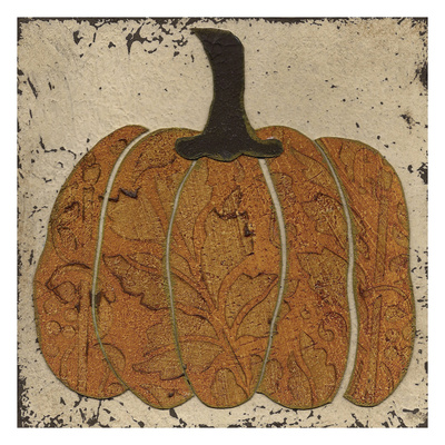 Harvest Pumpkins IV Art by Carol Kemery