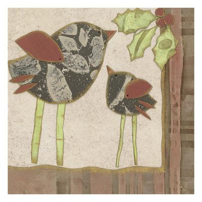 X-Mass Birds Print by Carol Kemery