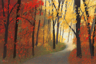 Strada in autunno Stampe di Lynn Krause