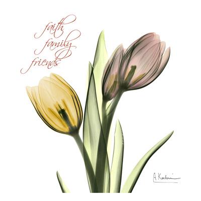 Tulips Faith Family Friends Print by Albert Koetsier
