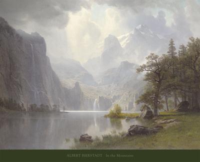 In the Mountains, c.1867 Art by Albert Bierstadt