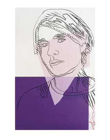 Self-Portrait, c.1978 (Purple and White) Kunstdruck