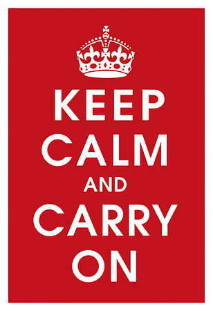 Keep Calm (Red) Art Print