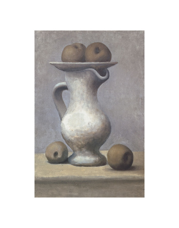 Still Life with Pitcher and Apple Prints by Pablo Picasso
