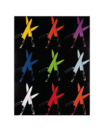 Knives, c.1981-82 (multi) Art Print