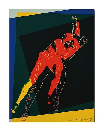 Speed Skater, c.1983 Art Print