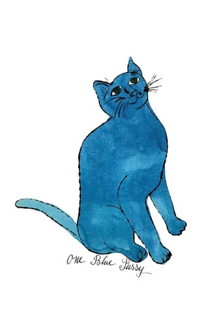 """Cat From """"25 Cats Named Sam and One Blue Pussy"""", c. 1954 (One Blue Pussy) Poster di Andy Warhol"""