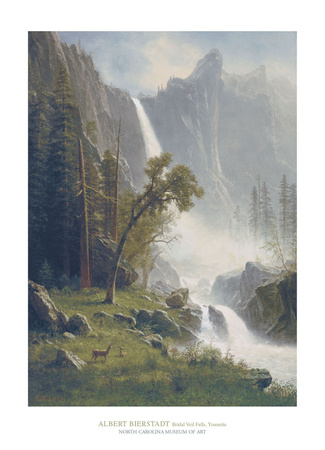 Bridal Veil Falls, Yosemite, c.1871-73 Láminas por Albert Bierstadt