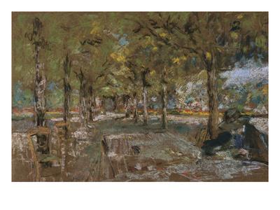 Reading Beneath the Trees at Amfreville; Le Lecture Sous Les Arbres Amfreville Premium Giclee Print by Edouard Vuillard