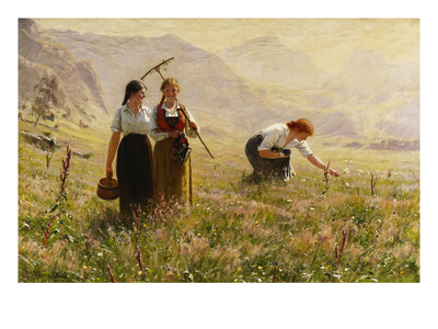 Summer's Day in Norway; Ein Sommertag in Norwegen Premium Giclee Print by Hans Dahl