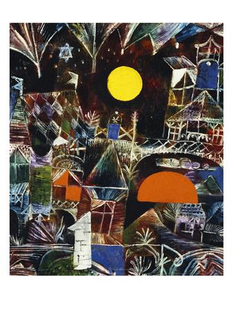 Moonrise - Sunset; Mondauf - Sonnenuntergang Premium Giclee Print by Paul Klee