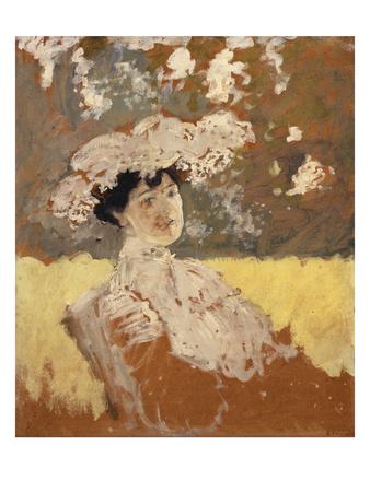 Woman with a Hat; Femme Avec Un Chapeau Premium Giclee Print by Edouard Vuillard