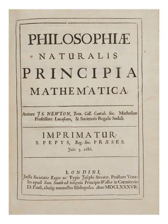 Philosophiae Naturalis Principia Mathematica Lámina giclée por Sir Isaac Newton