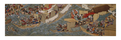 The Conquest of Korea by Empress Jingu reproduction procédé giclée