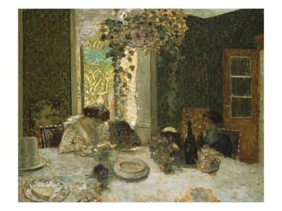 The Dining Room; La Salle a Manger Premium Giclee Print by Edouard Vuillard