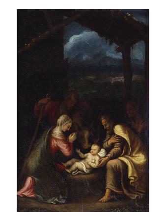 The Nativity Premium Giclee Print by Giulio Romano