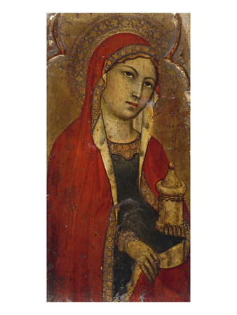 St Mary Magdalene - a Fragment from an Altarpiece Premium Giclee Print by Taddeo di Bartolo