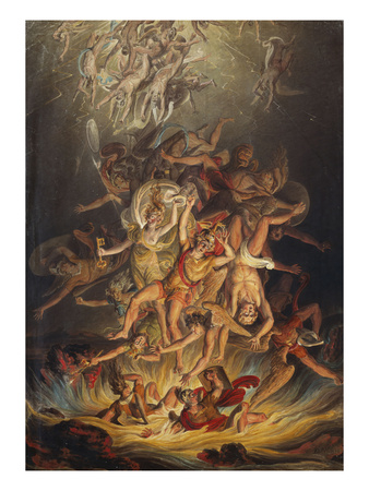 The Fall of the Angels Premium Giclee Print by Edward Dayes