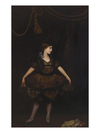 The Dancer in Black Premium Giclee Print by John da Costa