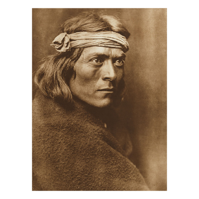 North American Indian, a Zuni Governor Giclee Print by Edward S. Curtis