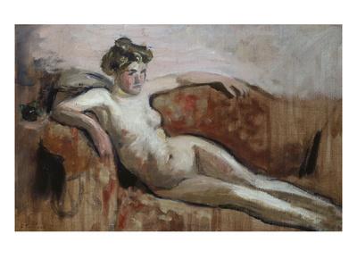Reclining Nude; Nu Couche Premium Giclee Print by Edouard Vuillard