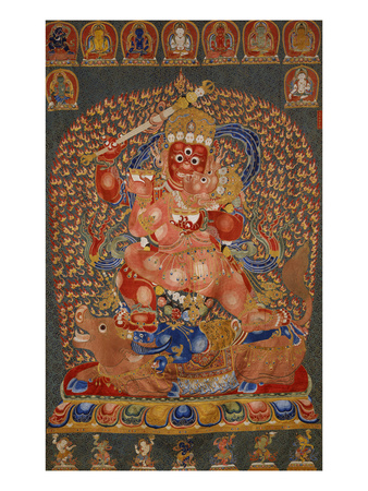 A Fine, and Rare and Important Large Imperial Embroidered Silk Thanka Premium Giclee Print