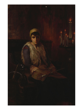 An Offertory Candle Premium Giclee Print by Theodore Jacques Ralli