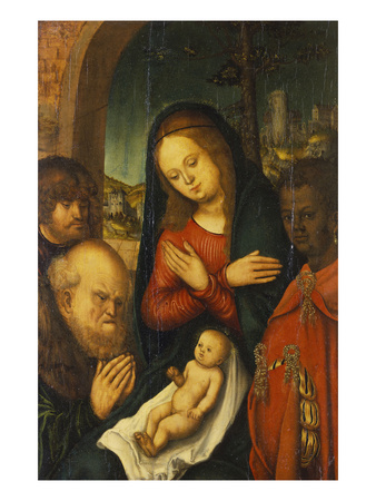 The Adoration of the Kings Premium Giclee Print by the Elder (Studio of), Lucas Cranach
