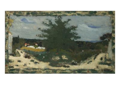 The Sunny Road, Laville Pond; La Route Ensoleillee, L'Etang Laville Premium Giclee Print by Edouard Vuillard